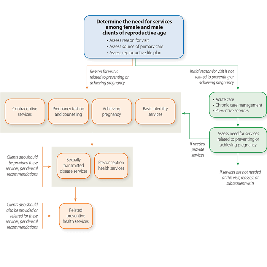 Family Planning Services Flowchart, see text-only version below