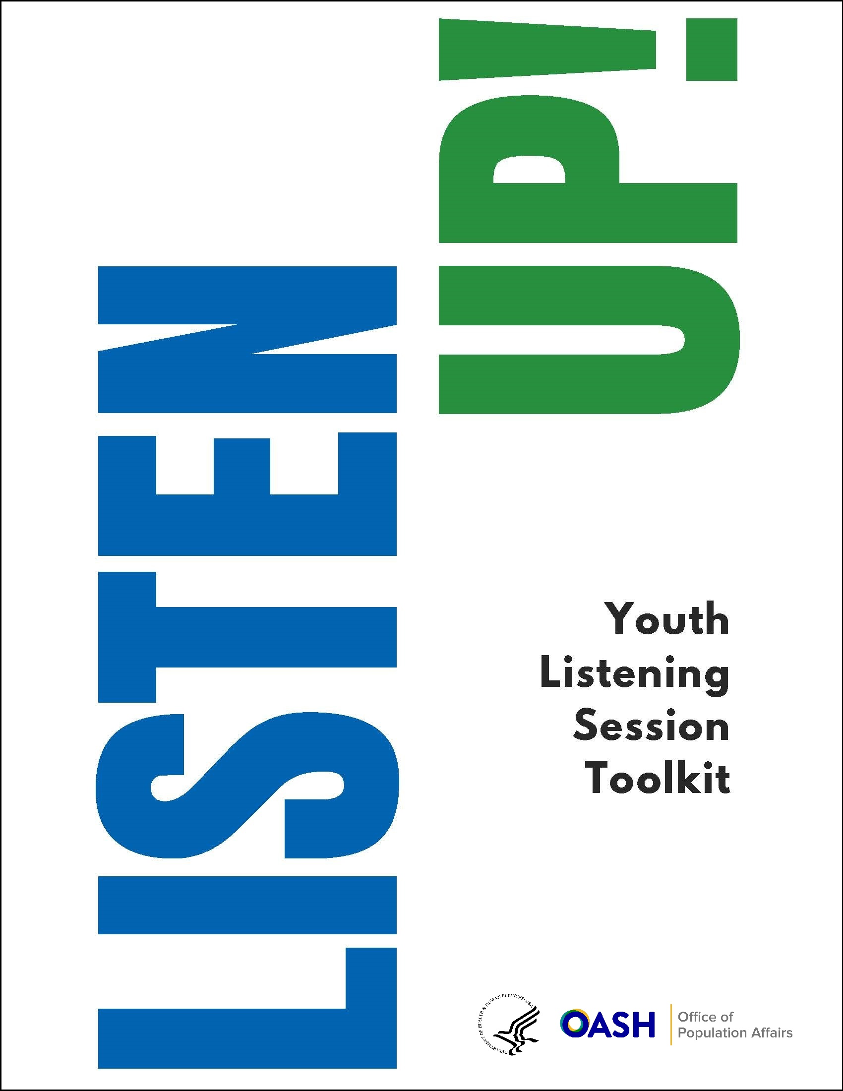 Cover of OPA's Listen Up! Youth Listening Session Toolkit.